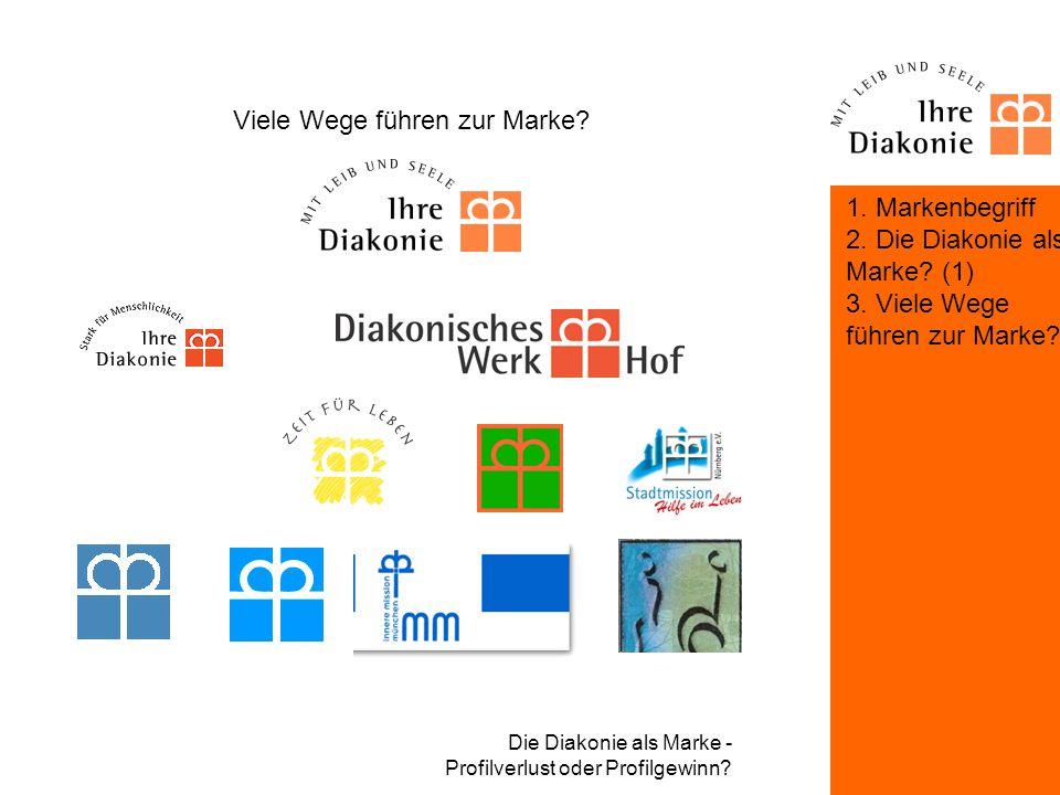 Die Diakonie als Marke - Profilverlust oder Profilgewinn? Viele Wege führen zur Marke? Markenkommunikation und Markenpflege durch den Landesverband be