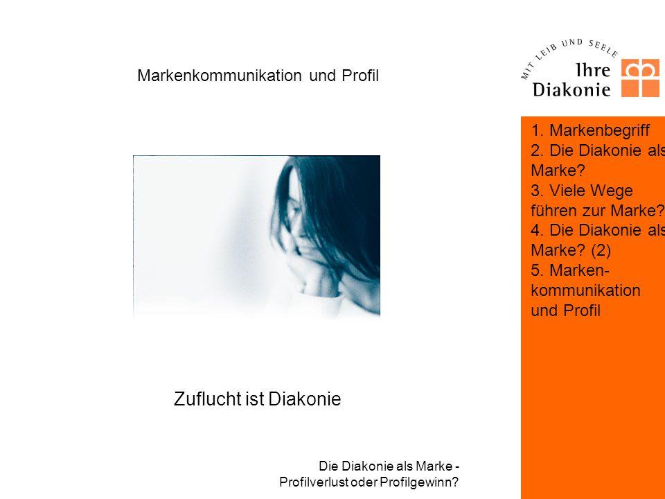 Die Diakonie als Marke - Profilverlust oder Profilgewinn? Markenkommunikation und Profil Definition und Kommunikation der Marke und des Markenkerns di