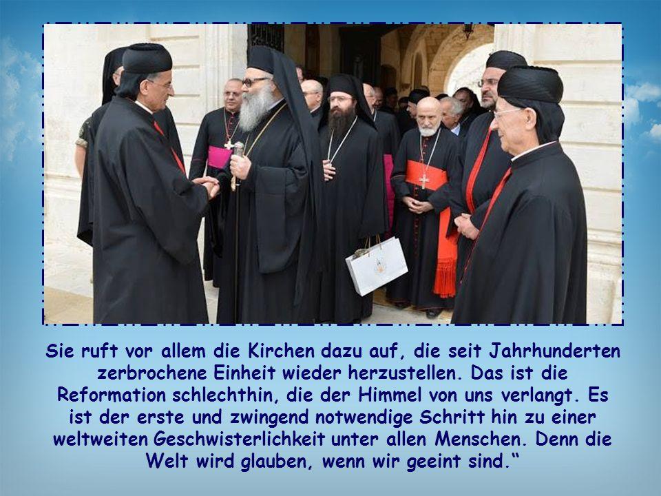 Sie ruft vor allem die Kirchen dazu auf, die seit Jahrhunderten zerbrochene Einheit wieder herzustellen. Das ist die Reformation schlechthin, die der