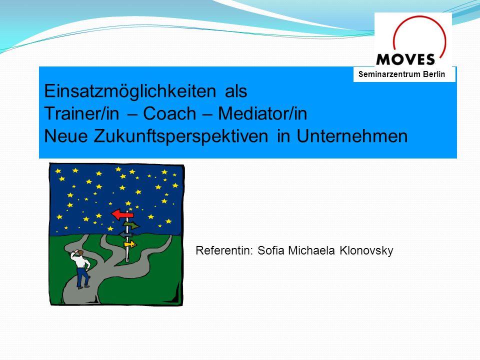 Was ist Coaching to coach (betreuen, trainieren, Prozess der Entwicklung von Fertigkeiten (Skills)  Beratung bei der Entwicklung und Umsetzung von persönlichen Zielen und Perspektiven  Unterstützung zur eigenständigen Bewältigung von Veränderungen  fördert Selbstmanagement und Umsetzungskompetenzen  wichtige Führungskompetenz zur Entwicklung der Leistungsfähigkeit und Motivation Seminarzentrum Berlin