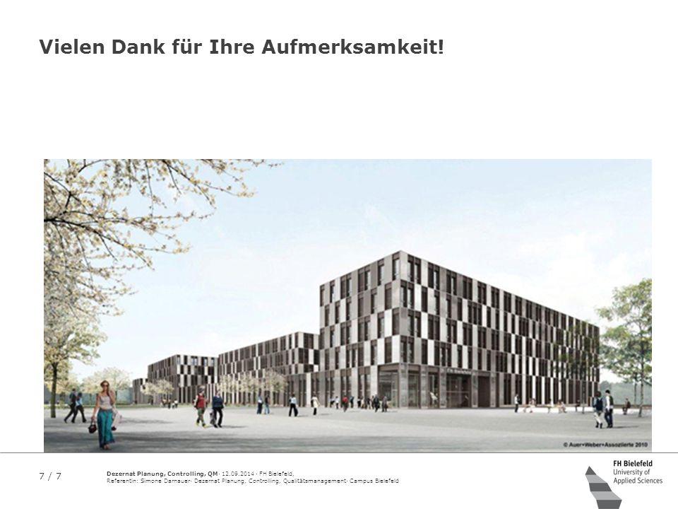 7 / 7 Dezernat Planung, Controlling, QM· 12.09.2014 · FH Bielefeld, Referentin: Simone Darnauer· Dezernat Planung, Controlling, Qualitätsmanagement· C