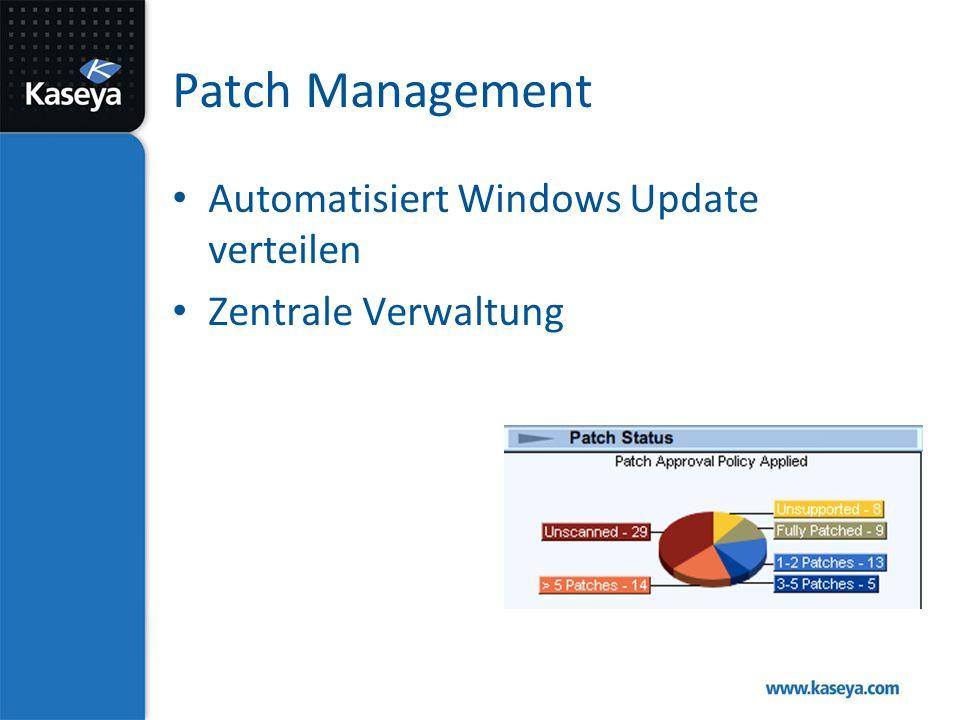 Patch Management Automatisiert Windows Update verteilen Zentrale Verwaltung