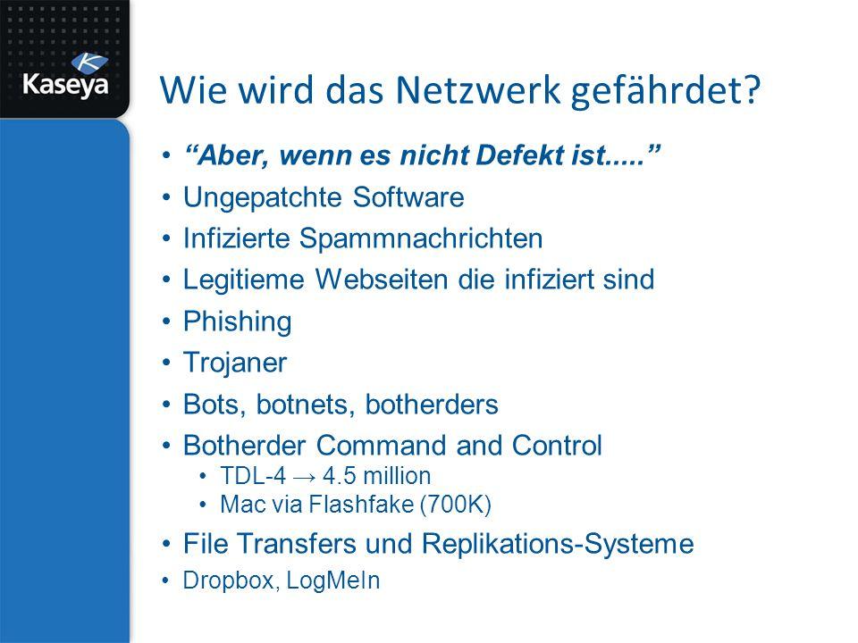 Wie wird das Netzwerk gefährdet.