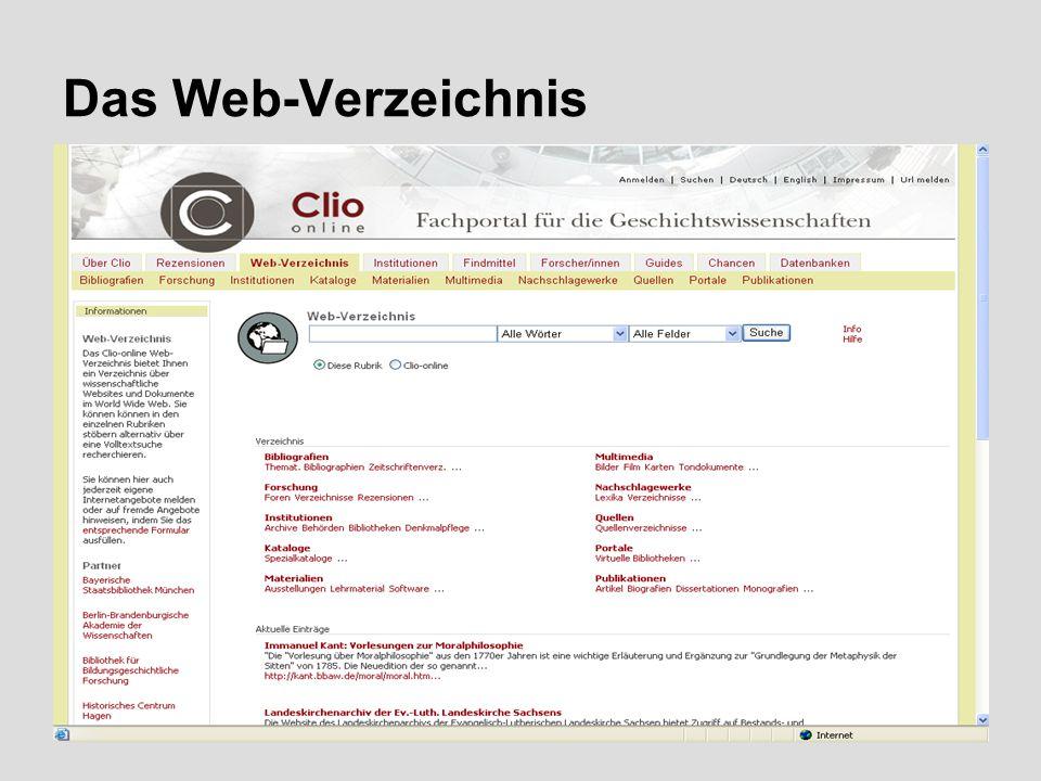 7 Das Web-Verzeichnis