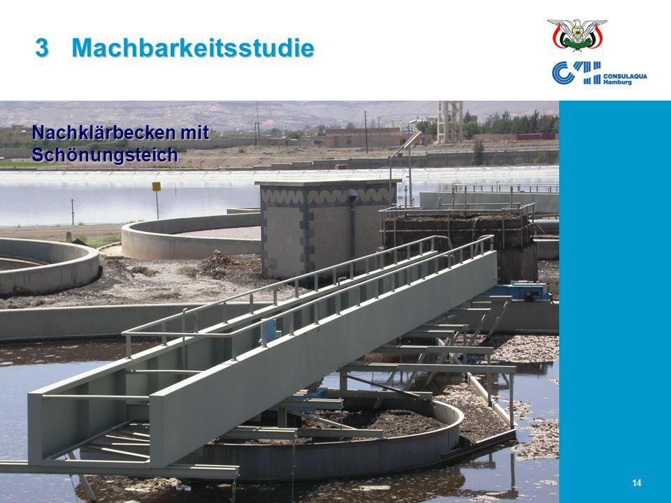 23.02.2006Abwasserwirtschaft im Großraum Sana'a14 3 Machbarkeitsstudie Nachklärbecken mit Schönungsteich