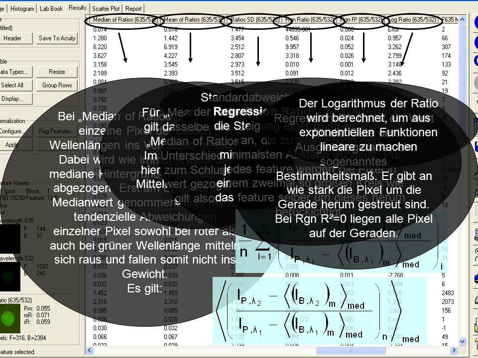 """Bei """"Median of Ratios wird jedes einzelne Pixel der beiden Wellenlängen ins Verhältnis gesetzt."""