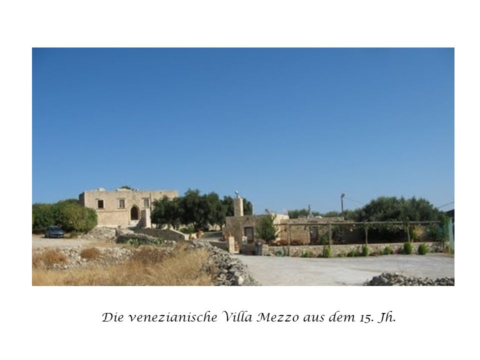 Die venezianische Villa Mezzo aus dem 15. Jh.