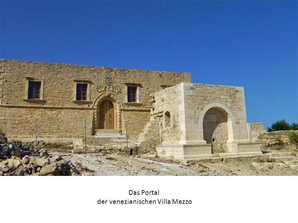 Das Portal der venezianischen Villa Mezzo