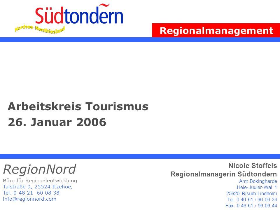 Regionalmanagement Südtondern RegionNord & Nicole Stoffels - Regionalmanagerin 2 Agenda 1.