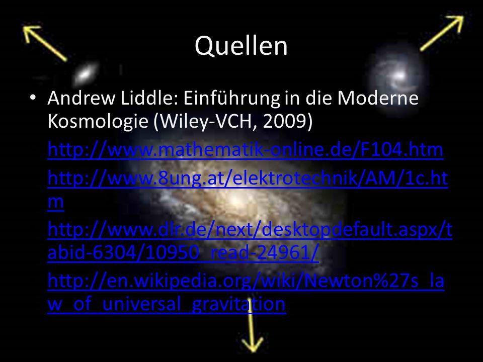 Quellen Andrew Liddle: Einführung in die Moderne Kosmologie (Wiley-VCH, 2009) http://www.mathematik-online.de/F104.htm http://www.8ung.at/elektrotechn
