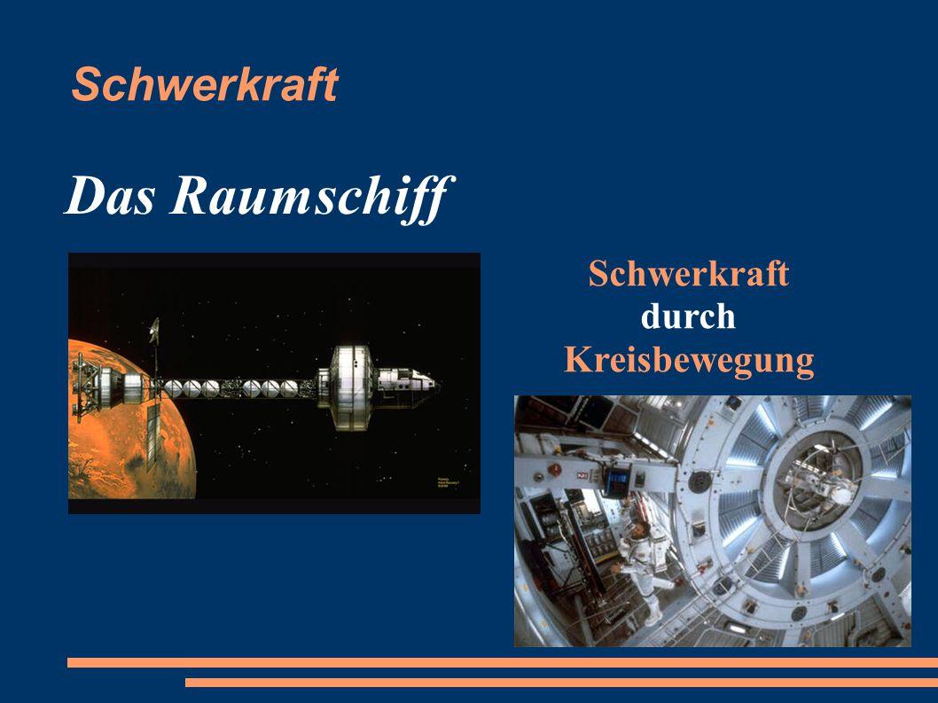 Schwerkraft Das Raumschiff Schwerkraft durch Kreisbewegung