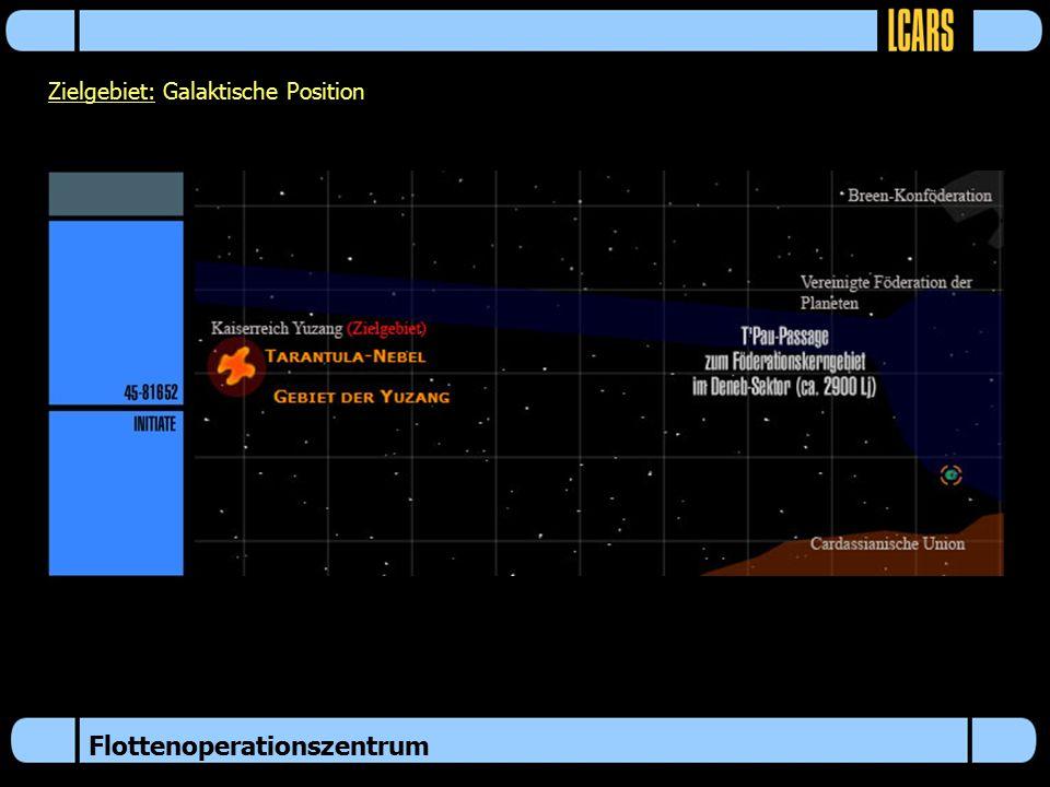 Flottenoperationszentrum Zielgebiet: Galaktische Position