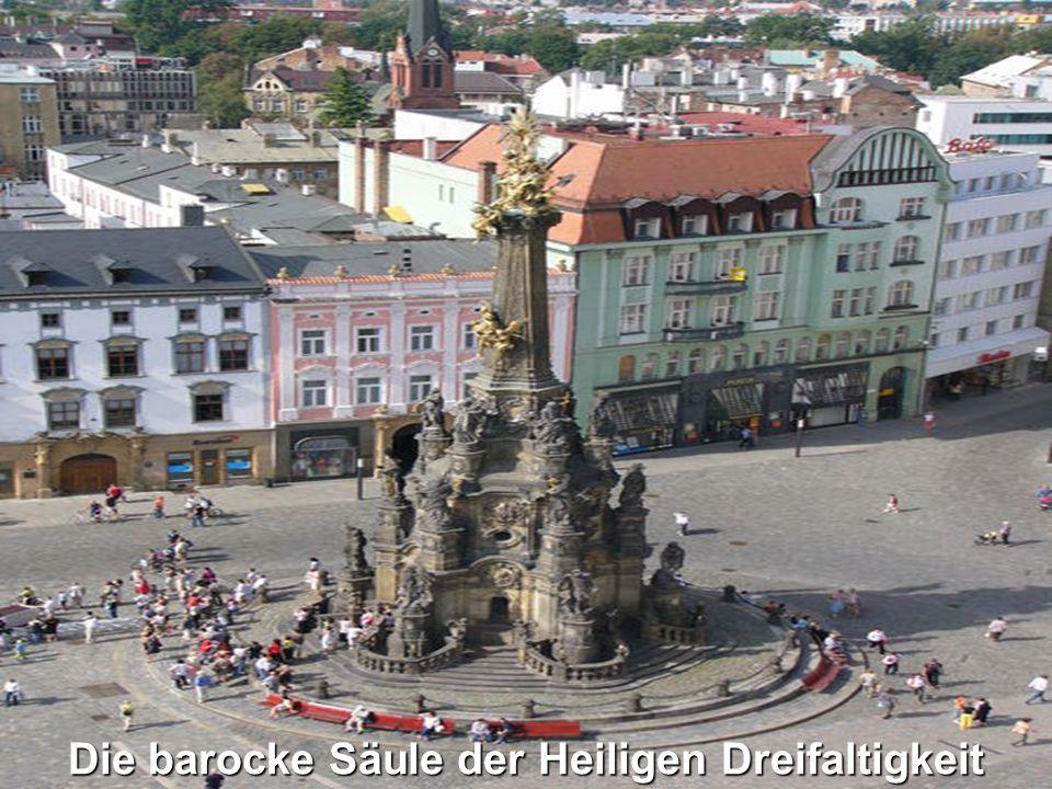 Die barocke Säule der Heiligen Dreifaltigkeit