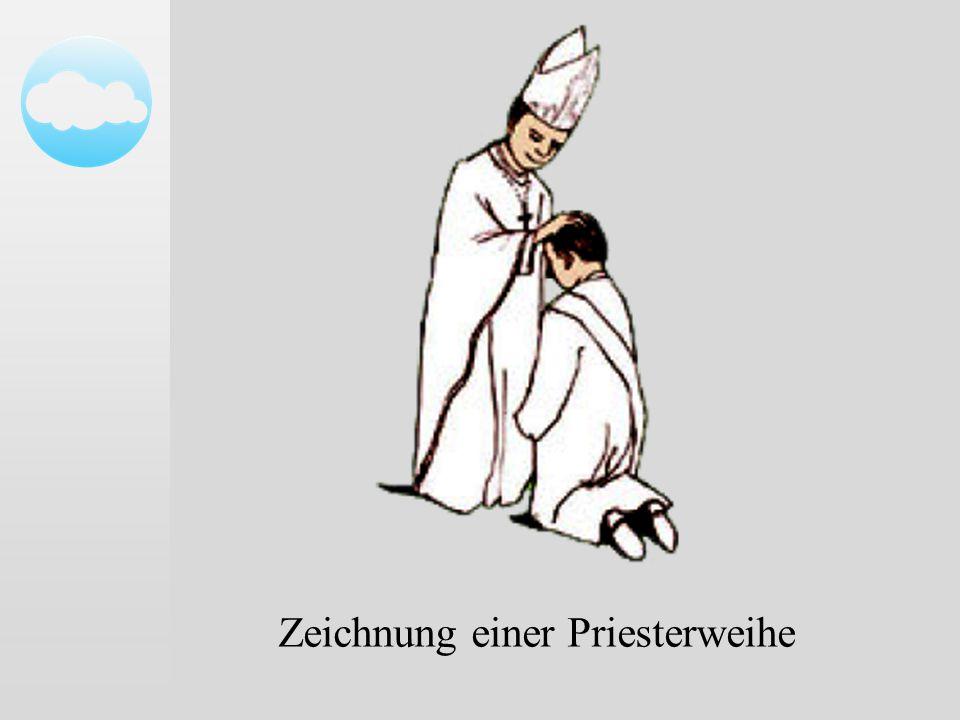 Zeichnung einer Priesterweihe