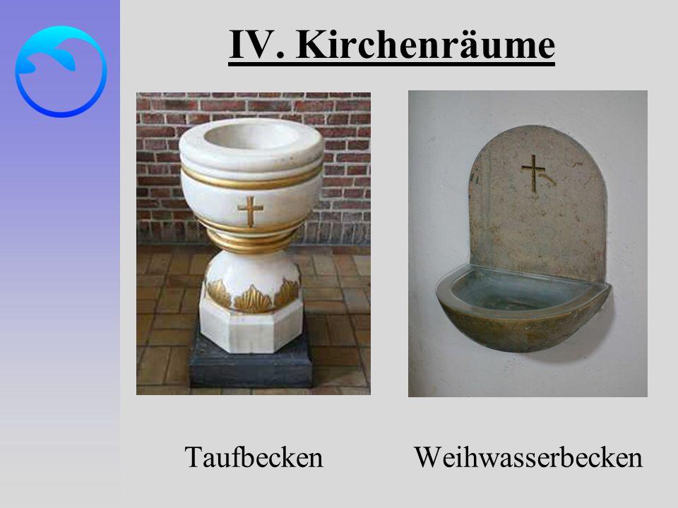 IV. Kirchenräume TaufbeckenWeihwasserbecken
