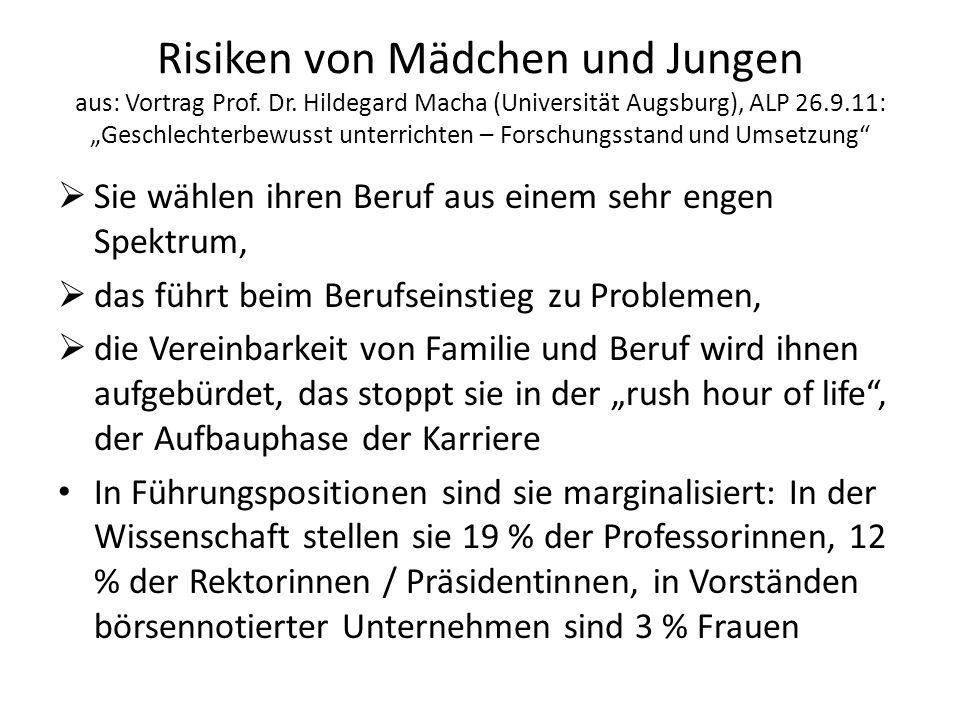 Risiken von Mädchen und Jungen aus: Vortrag Prof.Dr.