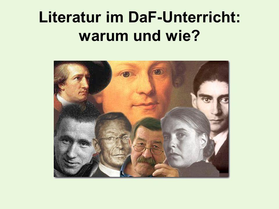 Literatur im DaF-Unterricht: warum und wie?