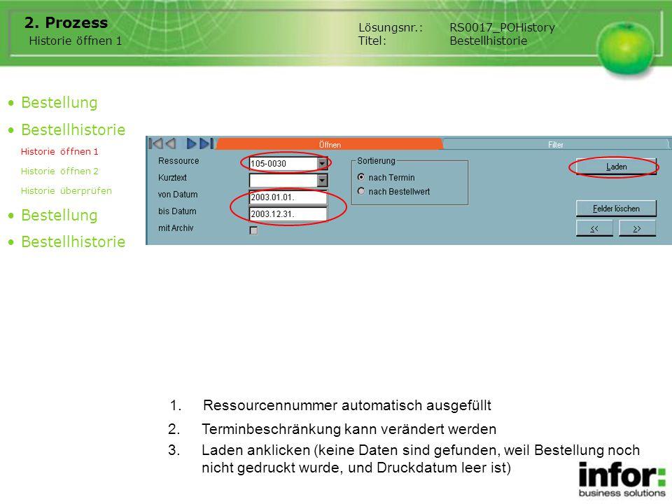 1.Ressourcennummer automatisch ausgefüllt 2.