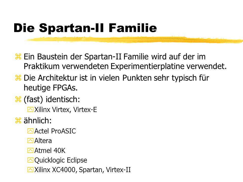 Die Spartan-II Familie zEin Baustein der Spartan-II Familie wird auf der im Praktikum verwendeten Experimentierplatine verwendet.