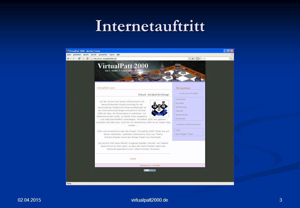 02.04.2015 3virtualpatt2000.de Internetauftritt