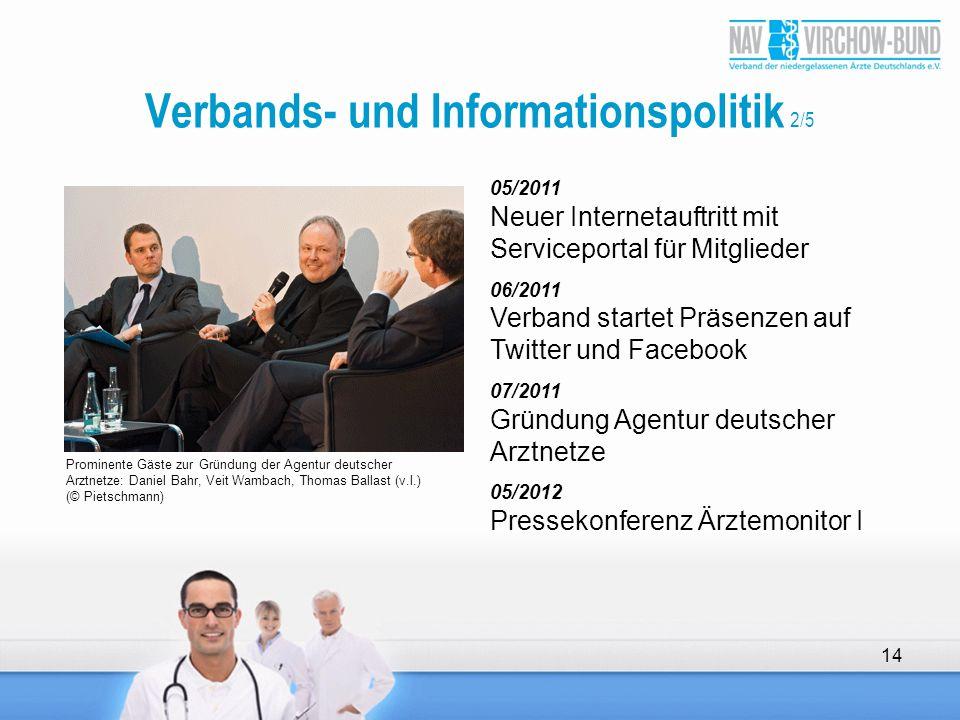 05/2011 Neuer Internetauftritt mit Serviceportal für Mitglieder 06/2011 Verband startet Präsenzen auf Twitter und Facebook 07/2011 Gründung Agentur de
