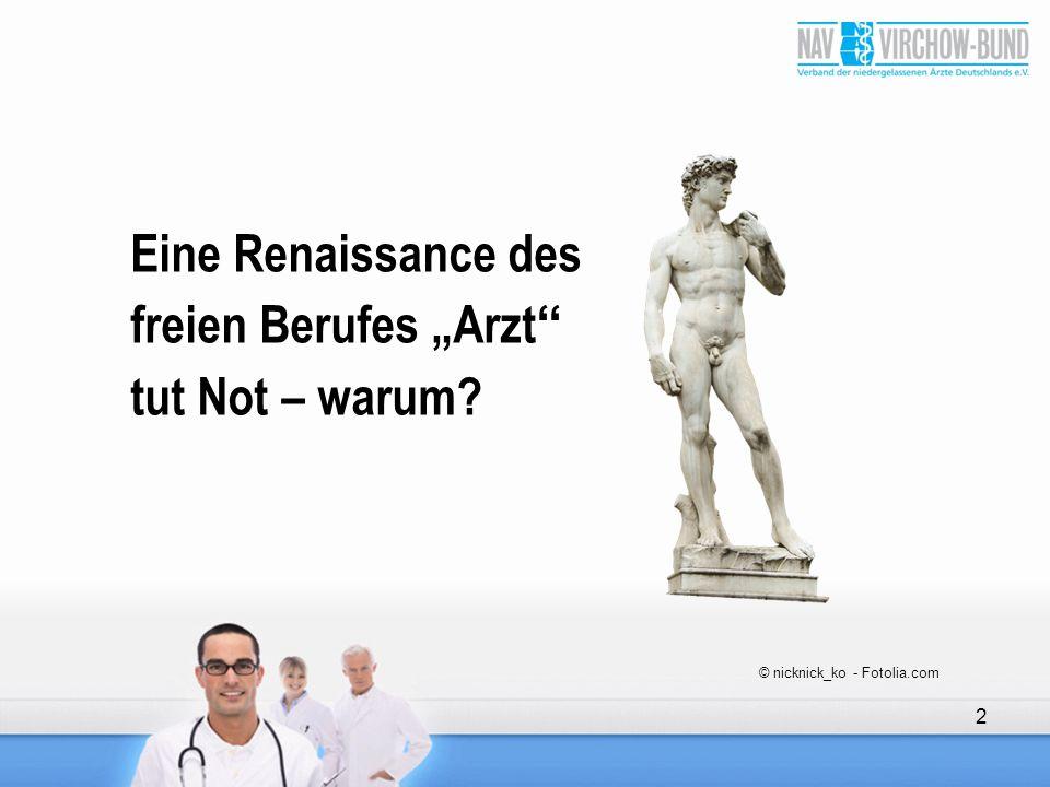 """2 Eine Renaissance des freien Berufes """"Arzt"""" tut Not – warum? © nicknick_ko - Fotolia.com"""