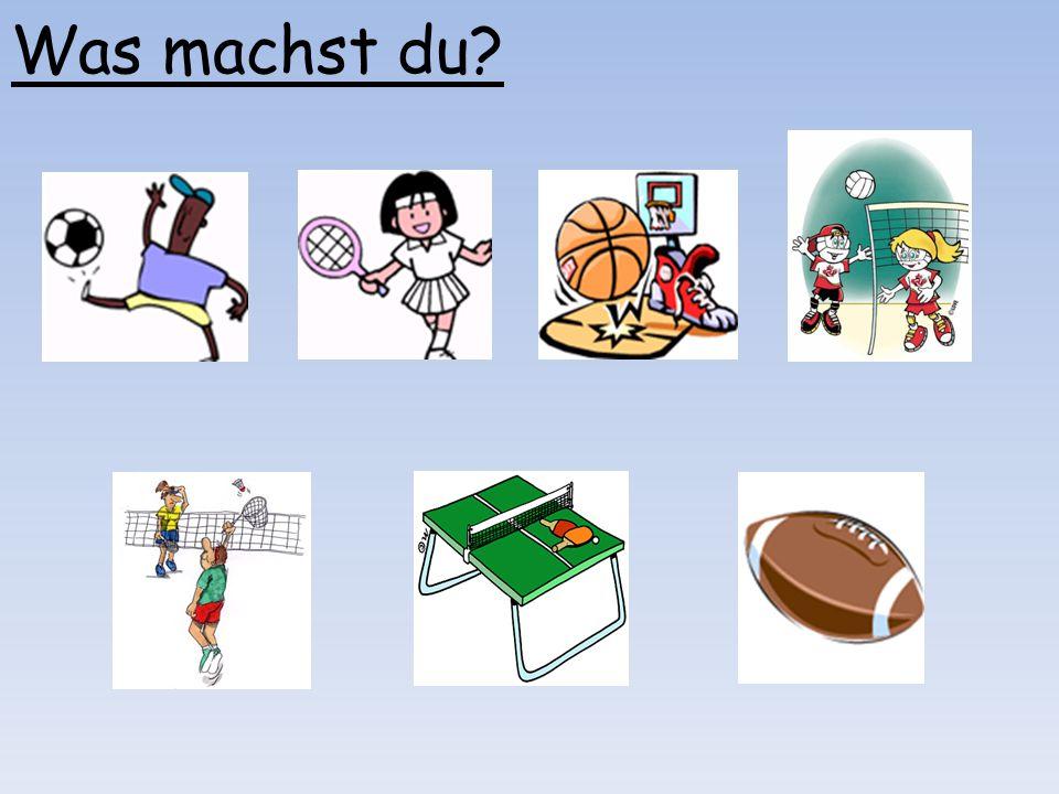 Beispiel - A: Spielst du Rugby? B: Nein. Partnerarbeit