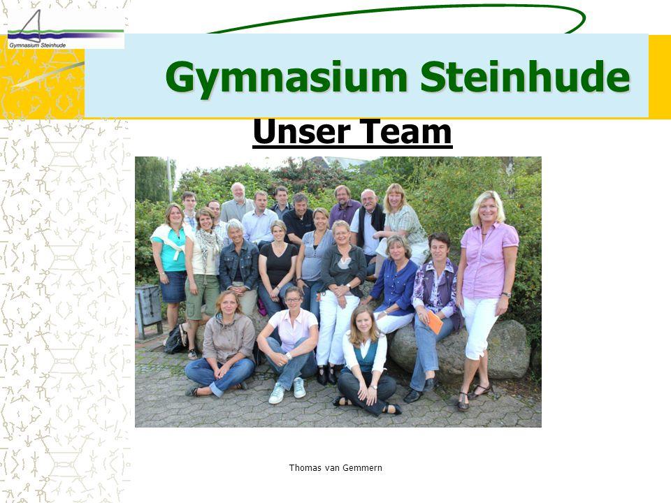 Thomas van Gemmern Gymnasium Steinhude Unser Team