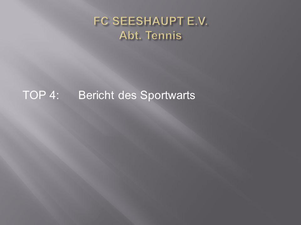TOP 4:Bericht des Sportwarts