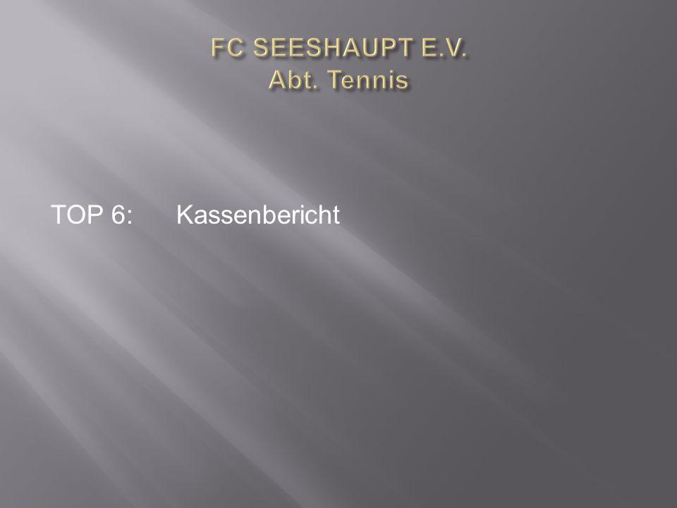 TOP 6:Kassenbericht