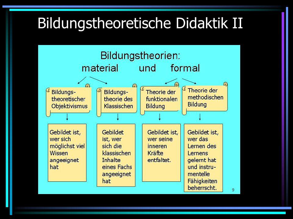 Bildungstheoretische Didaktik II