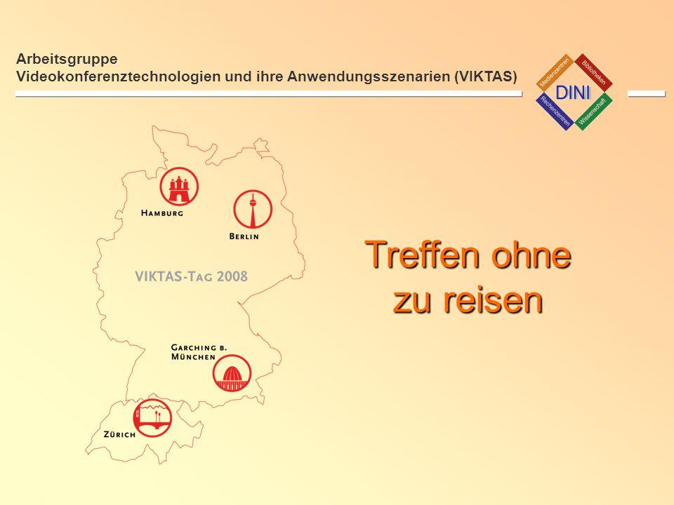 10:00 - 10:10 Uhr Lokale Eröffnung Arbeitsgruppe Videokonferenztechnologien und ihre Anwendungsszenarien (VIKTAS)