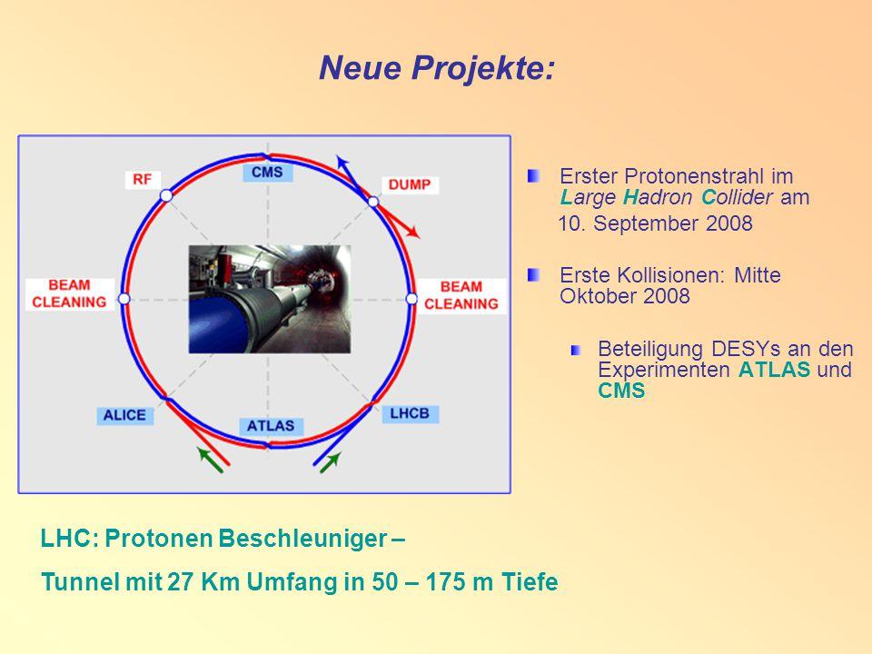 Neue Projekte: Erster Protonenstrahl im Large Hadron Collider am 10.