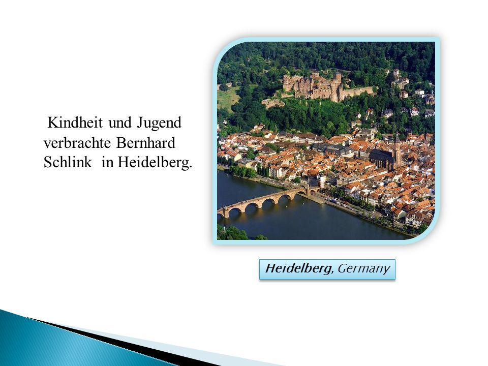 Kindheit und Jugend verbrachte Bernhard Schlink in Heidelberg. Heidelberg, Germany