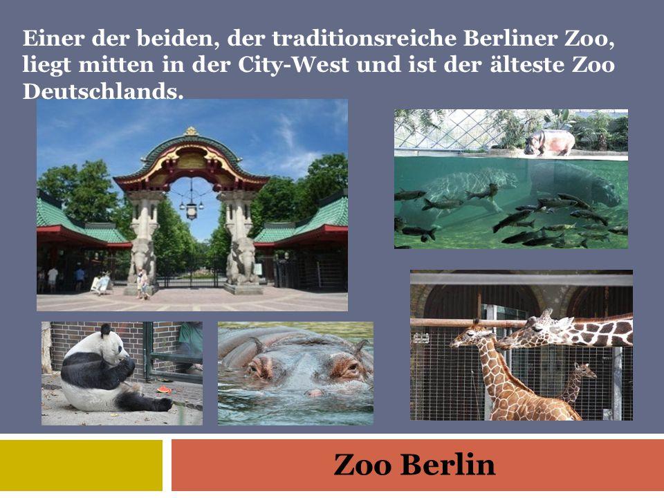 Zoo Berlin Einer der beiden, der traditionsreiche Berliner Zoo, liegt mitten in der City-West und ist der älteste Zoo Deutschlands.