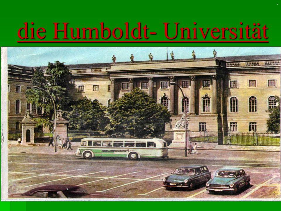 ' ! die Humboldt- Universität