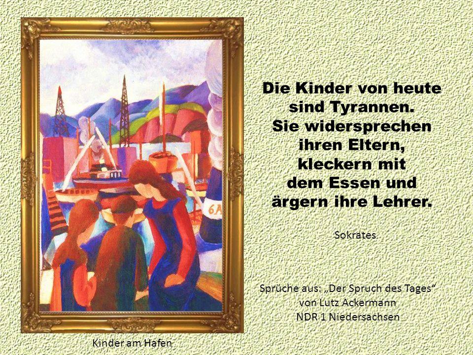 Hafenbild mit Kindern auf Duisburger Hafenmauer Mengtse Ein großer Mensch ist der, der sein Kinderherz nicht verloren hat