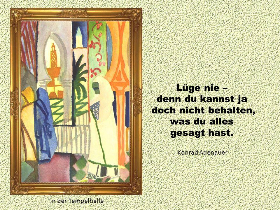 Im Basar. Johann Wolfgang von Goethe Wer nichts für andere tut, der tut auch nichts für sich.