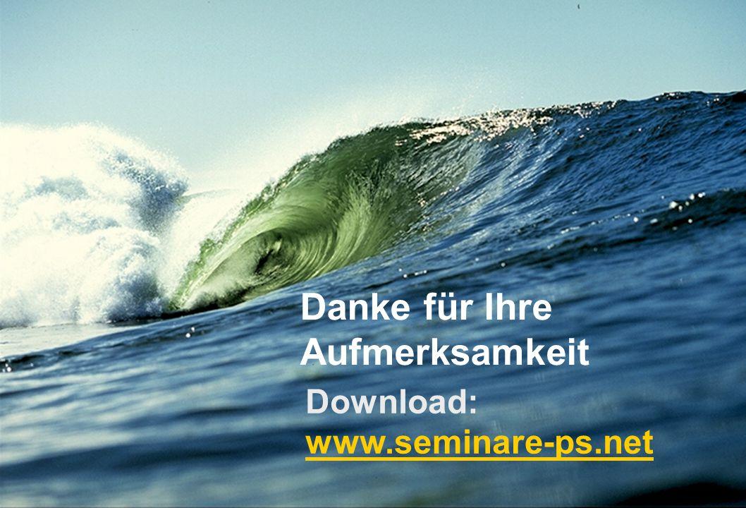 Danke für Ihre Aufmerksamkeit Download: www.seminare-ps.net www.seminare-ps.net