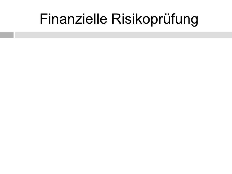 Finanzielle Risikoprüfung