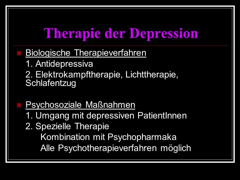 Therapie der Depression Biologische Therapieverfahren 1.