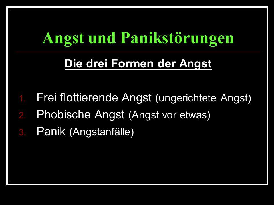 Angst und Panikstörungen Die drei Formen der Angst 1.