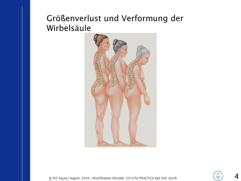 © IhF/ Baum/ August 2006 – Modifikation Oktober 2010 für PRACTICA Bad Orb durch Günther Egidi 5 Eine 55-jährige Frau hat ihre Hormontherapie ausgeschlichen, weil die Hitzewallungen jetzt erträglich sind.