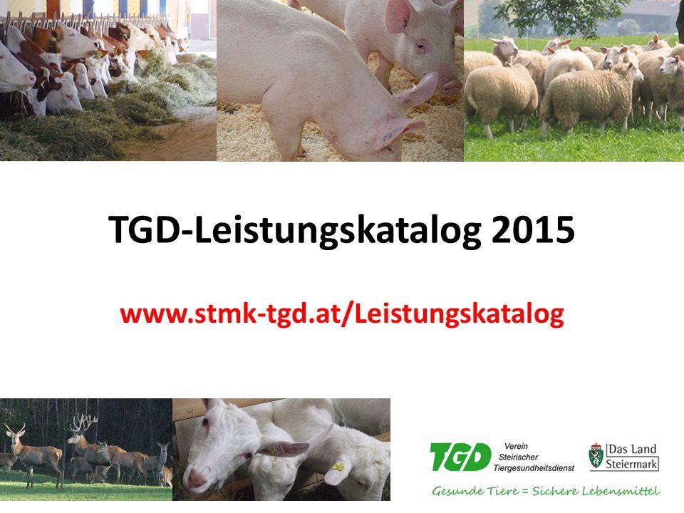 TGD-Leistungskatalog 2015 www.stmk-tgd.at/Leistungskatalog
