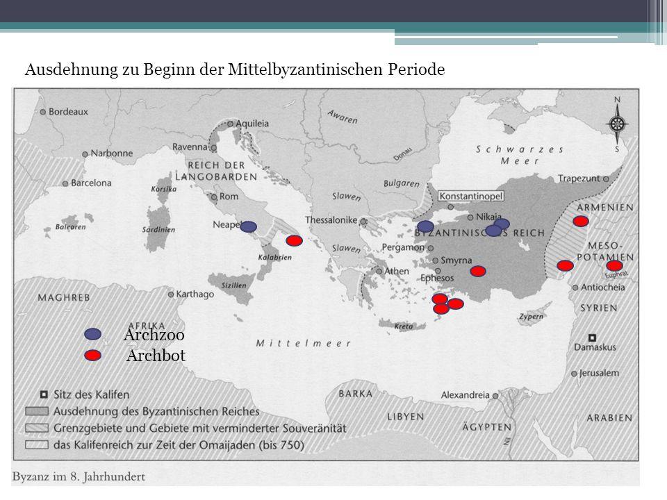 Beginn Mittel Ausdehnung zu Beginn der Mittelbyzantinischen Periode Archbot Archzoo