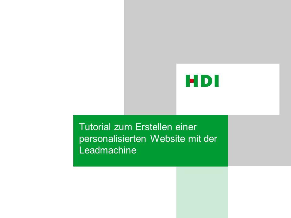 Tutorial zum Erstellen einer personalisierten Website mit der Leadmachine