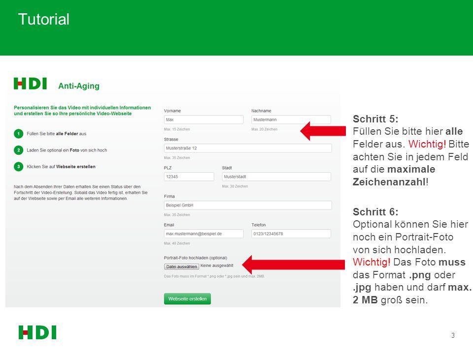 14 Tutorial max.mustermann@beispiel.de Schritt 28: Sobald Sie eine weitere personalisierte Website erstellt haben, erscheint diese ebenfalls in Ihrem Verwaltungsportal.