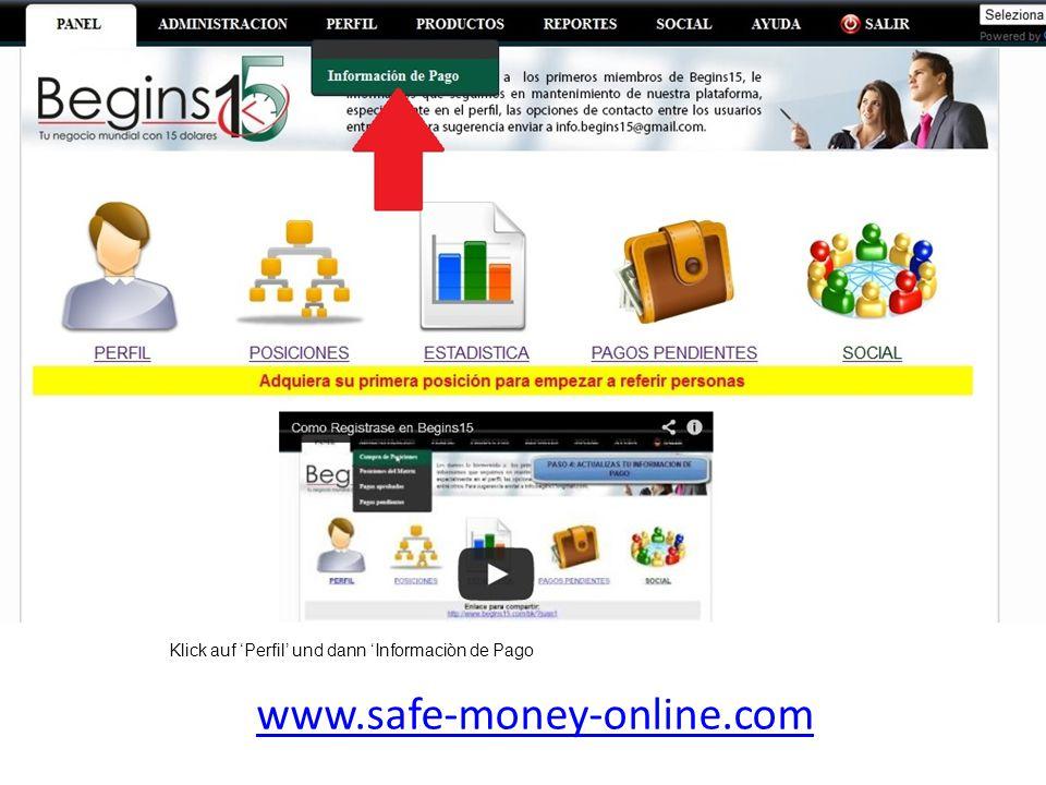 www.safe-money-online.com Trage jetzt hier Deine Zahlungsprozessoren ein.