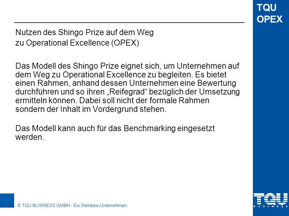 © TQU BUSINESS GMBH - Ein Steinbeis-Unternehmen TQU OPEX Akzente setzen