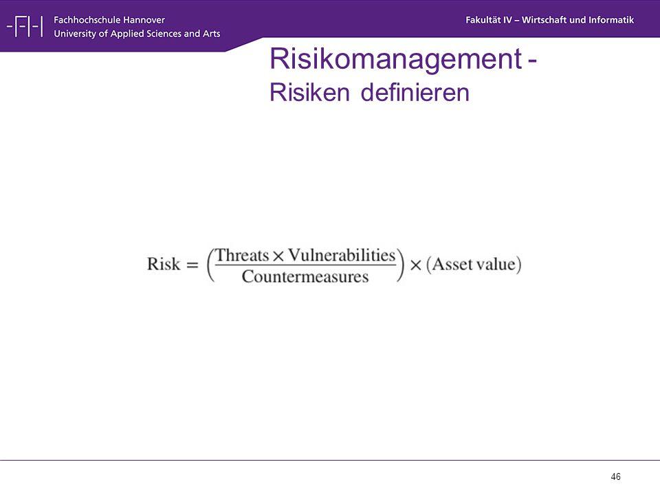 46 Risikomanagement - Risiken definieren